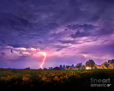 Photograph - Lighting Maine Farm by Alana Ranney