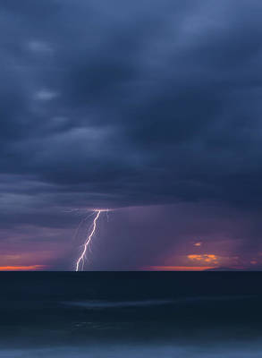 Photograph - Lighting Over The Ocean by Cliff Wassmann