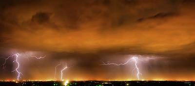 Photograph - Lightning Drama by Leland D Howard