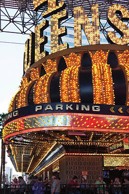 Photograph - Lights Of 4 Queens Casino, Las Vegas by Tatiana Travelways
