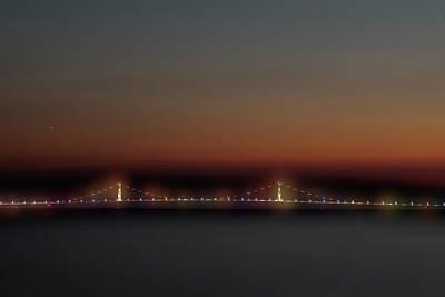 Photograph - Lights On The Bridge by Dan Friend