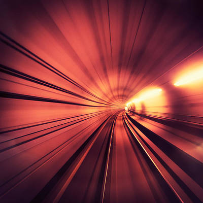 Photograph - Lights On The Tunnel - Motion Blur by Franckreporter