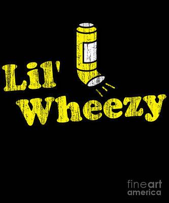 Digital Art - Lil Wheezy Asthma by Flippin Sweet Gear