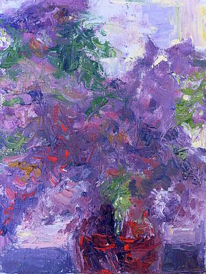 Painting - Lilac Bouquet by Quin Sweetman