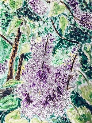 Painting - Lilac Dreams by Monique Faella