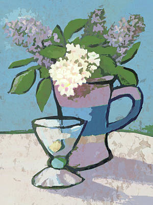 Painting - Lilacs Artwork by Lutz Baar