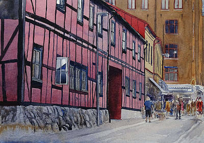 Painting - Lilla Sodergatan by Erik Lundgren