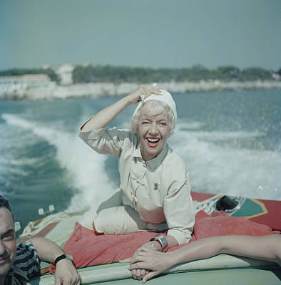 Holding Photograph - Lily On The Riviera by Slim Aarons