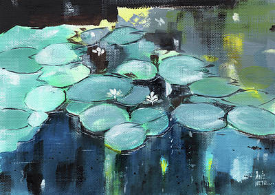 Painting - Lily Pond by Anil Nene