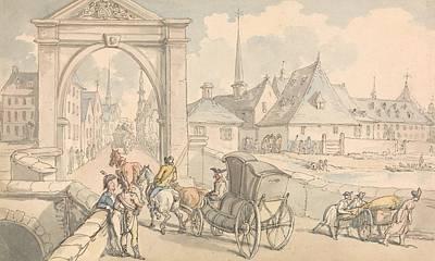 Drawing - Limbourg, Belgium by Thomas Rowlandson