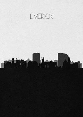 Digital Art - Limerick Cityscape Art by Inspirowl Design
