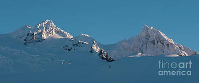 Royalty-Free and Rights-Managed Images - Lincoln and Colefax Peaks Mount Baker Aerial by Mike Reid