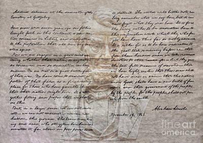 Politicians Digital Art - Lincoln and Gettysburg Address by Randy Steele