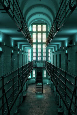 Digital Art - Lincoln Castle Prison In Blue by Scott Lyons