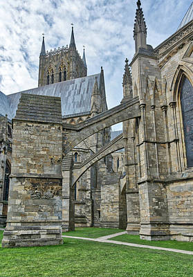 Photograph - Lincoln Cathedral Archways by Scott Lyons