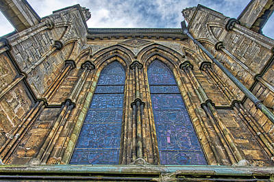 Photograph - Lincoln Cathedral Looking Up by Scott Lyons