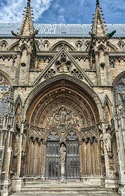 Photograph - Lincoln Cathedral Side Entrance by Scott Lyons