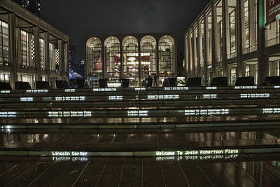 Photograph - Lincoln Center For The Performing Arts by Jacqui Boonstra