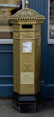 Photograph - Lincoln City Gold Postbox by Scott Lyons