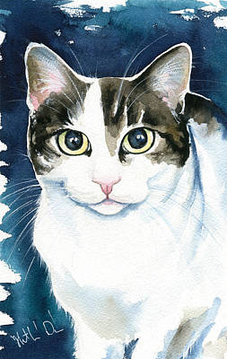 Painting - Lindy Cat Painting by Dora Hathazi Mendes