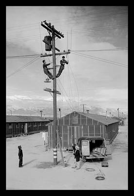 Photograph - Line Crew At Work In Manzanar by Buyenlarge