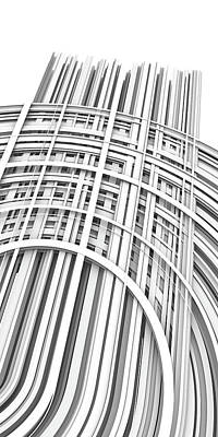 Line Drawing Quibe - Lines and Curves 1 by Scott Norris