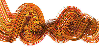 Modern Feathers Art - Lines and Curves 2 by Scott Norris
