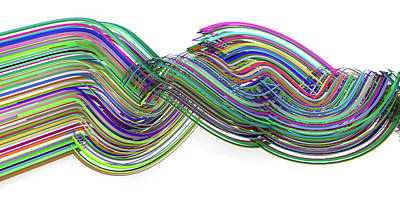 Digital Art Royalty Free Images - Lines and Curves 3 Royalty-Free Image by Scott Norris