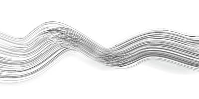 Black And White Ink Illustrations - Lines and Curves 6 by Scott Norris