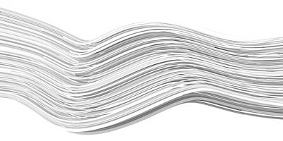 Black And White Ink Illustrations - Lines and Curves 7 by Scott Norris