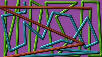 Digital Art - Lines #i3 by Leif Sohlman