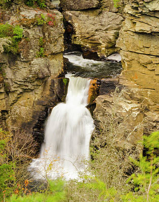 Photograph - Linville Falls - Closeup by Paul Croll