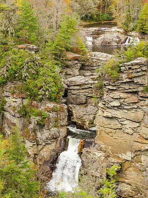 Photograph - Linville Falls - Vertical by Paul Croll