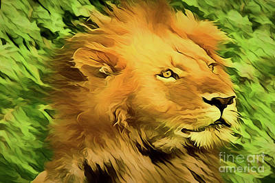 Painting - Lion A18-221 by Ray Shrewsberry