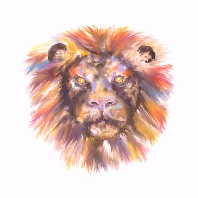 Digital Art - Lion by Elizabeth Lock