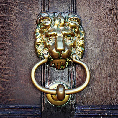 Photograph - Lion Knocker by Joe Winkler