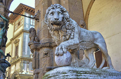 Photograph - Lion Of Florence by JAMART Photography