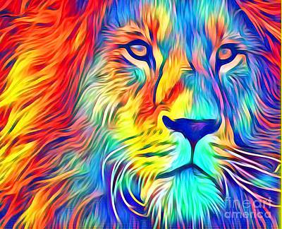 Mixed Media - Lion Of Judah by Jessica Eli