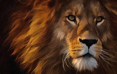 Painting - Lion Portrait by Vincent Monozlay