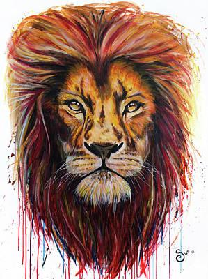 Painting - Lion by Sue Art studio