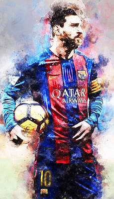 Painting - Lionel Messi - 03 by Andrea Mazzocchetti