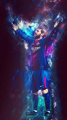 Digital Art - Lionel Messi - 04 by Andrea Mazzocchetti