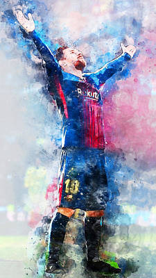 Painting - Lionel Messi - 05 by Andrea Mazzocchetti