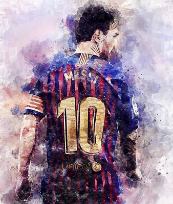 Painting - Lionel Messi - 06 by Andrea Mazzocchetti