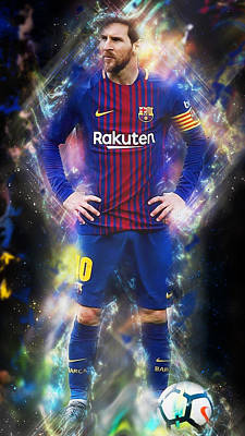 Painting - Lionel Messi - 07 by Andrea Mazzocchetti