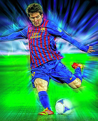 Royalty-Free and Rights-Managed Images - Lionel Messi by Mal Bray