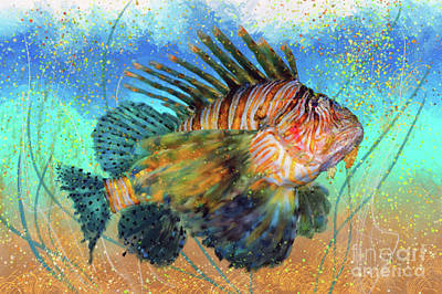 Digital Art - Lionfish by Lois Bryan
