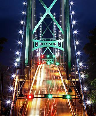 Photograph - Lions Gate Bridge by Alexis Birkill