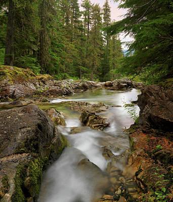 Photograph - Lions Head Creek Cascades by Leland D Howard
