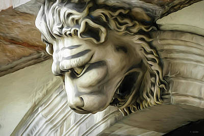 Photograph - Lion's Head In Barcelona by Tony Grider